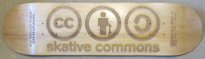 Creative Skative Commons Laser Engraved Skateboard