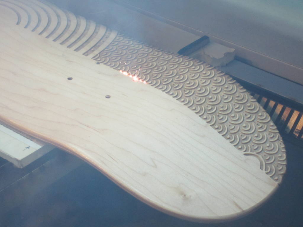 720 Yin Yang Laser Engraving of Skateboard