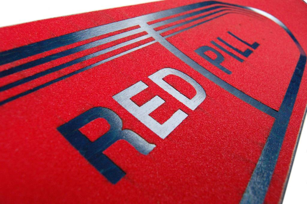 Red Pill Blue Pill Griptape Close Up